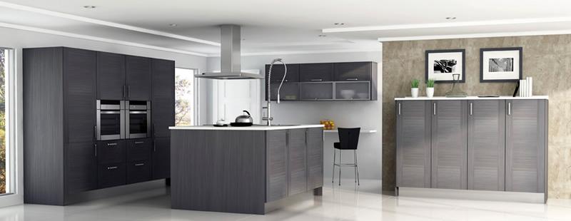 Muebles fusteria berruezo for Elemento de cocina gris
