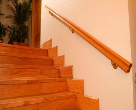 Escaleras barandillas y pasamanos fusteria berruezo - Barandillas de cristal y madera ...