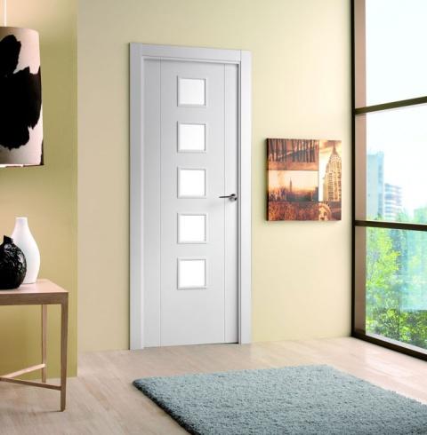 Portes fusteria berruezo - Puertas cristal interior ...